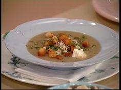 Sopa de papa y hongos