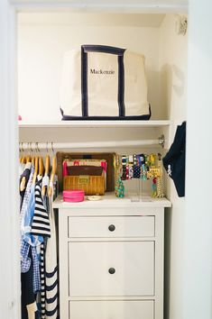 closet + jewelry organization