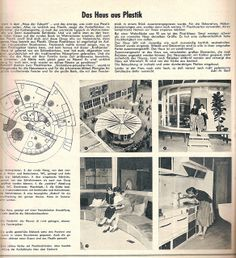 1969 Das Haus with some interiors and an overhead.
