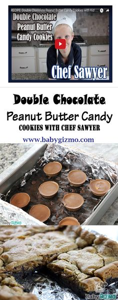 How to Make Double Chocolate Peanut Butter Candy Cookies with Kid Chef Sawyer! #BabyGizmo