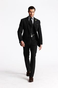 Ralph Lauren Fall 2013 Menswear Fashion Show - Purple Label Tailored