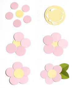 Make Easy Paper Flowers: 5 Fast & Fun Tutorials five petal tutorial Paper Flowers For Kids, Paper Quilling Flowers, Paper Flower Art, Book Flowers, Paper Flower Tutorial, Flower Crafts, Diy Flowers, Diy Paper, Paper Crafts