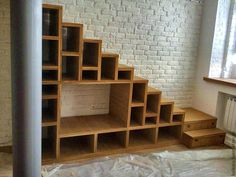 Ideas For Stairs Storage Ideas Staircases Tiny House Loft Bed Stairs, Loft Staircase, Staircase Storage, Tiny House Stairs, Stairs In Living Room, Tiny House Loft, Stair Storage, Tiny House Design, Staircase Design