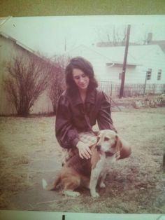 Mom and Apollo 1971.
