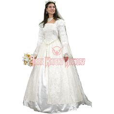 Renaissance Wedding Gown and Veil - 101046 from Dark Knight Armoury