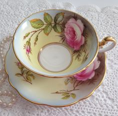 Signed EB Foley China Tea Cup and Saucer by TheEclecticAvenue