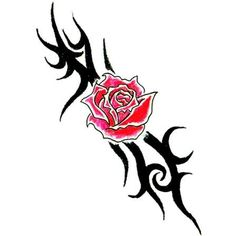 Tribal Flower Band Tattoo -- Continue to the product at the image link. (This is an affiliate link) #NoveltyGagToys