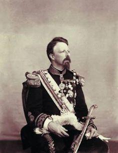Conde D' Eu, marido da Princesa Isabel, no Rio de Janeiro, em 1885. Foto de Marc Ferrez.