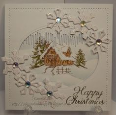 inkylicious log cabin card ideas - Google Search