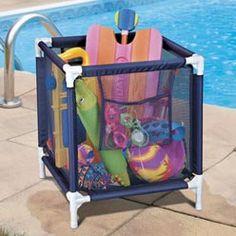 Pool Float Storage Ideas pvc pool float storage Storage Bin For Pool Toys