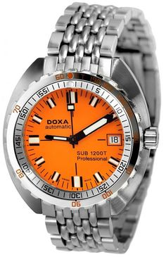 Doxa Watch Sub 1200T Professional #add-content #bezel-unidirectional #bracelet-strap-steel #brand-doxa #case-material-steel #case-width-42-7mm #date-yes #delivery-timescale-1-2-weeks #dial-colour-orange #gender-ladies #helium-valve-yes #limited-edition-yes #luxury #movement-automatic #official-stockist-for-doxa-watches #packaging-doxa-watch-packaging #style-divers #subcat-sub-1200t #supplier-model-no-635189692830 #warranty-doxa-official-2-year-guarantee #water-resistant-1200m