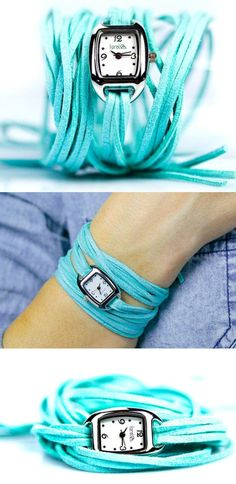 Turquoise Wrap Watch...on my To Make list for the summer!