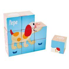 Pepe drewniane klocki Puzzle przyjaźni HAPE