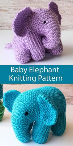 Knitting Pattern for Baby Elephant Toy - Baby elephant softie with body, head an. Knitting Pattern for Baby Elephant Toy - Baby elephant softie with body, head and trunk is knitted as a single piece of . Animal Knitting Patterns, Baby Patterns, Knitting Patterns For Babies, Knitted Toys Patterns, Crochet Elephant Pattern, Sweater Patterns, Afghan Patterns, Amigurumi Patterns, Clothes Patterns