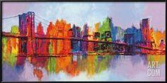 Art.fr - Reproduction d'art 'Manhattan abstrait, triptyque' par Brian Carter