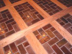 Wood Brick Inlay Floors