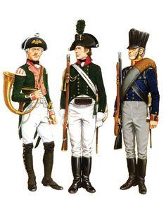 soldatini uniformi e storia militare Prussian light troops - 1792-1815