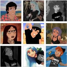 my hipster disney friends Hipster Disney, Goth Disney, Dark Disney, Disney Love, Disney Magic, Disney Stuff, Hipster Boys, Disney Tattoos, Emo Disney Characters