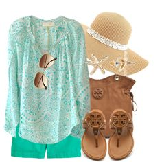 """Seaside Shopping"" by qtpiekelso on Polyvore"