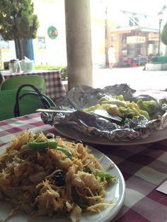 Bacalhau a Braz & steamed veggies, in Coloane, Macau