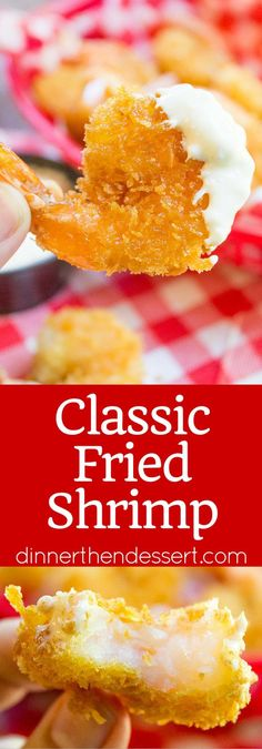 Classic Fried Shrimp made with panko keeps your shrimp light, crispy and not weighed down with a heavy wet batter. Don't pay huge bucks for fried frozen shrimp that taste like cardboard, fresh fried shrimp is just minutes away!