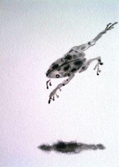 Detail of Frog shikishi