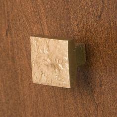 Signature Hardware Solid Bronze Textured Square Knob #SignatureHardware