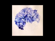 How to paint Blue Hydrangea with watercolour markers - Aquamarker tutorial - YouTube