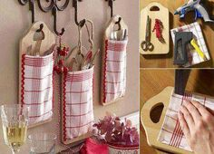 Cute DIY idea for utensils Easy Diy Projects, Craft Projects, Projects To Try, Diy And Crafts, Arts And Crafts, Wood Crafts, Clever Diy, Diy Kitchen, Kitchen Utensils