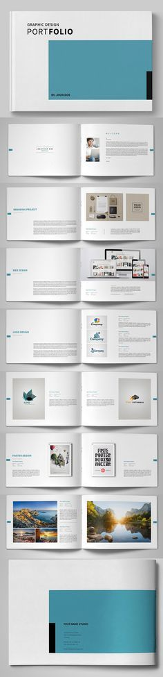 Ideas for design layout brochure portfolio ideas Portfolio Design, Portfolio Covers, Portfolio Layout, Graphic Portfolio, Layout Design, Web Design, Brochure Templates Free Download, Indesign Brochure Templates, Indesign Free