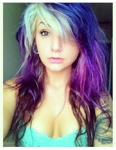 Beautiful multicolored hair!