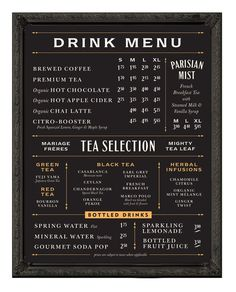 Blackboard font menu coffee | menu board - Chad Roberts Design | Branding | Pinterest | Design, Font ...