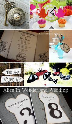 Alice in Wonderland Wedding inspiration!