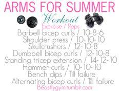 Arm workout   via Tumblr
