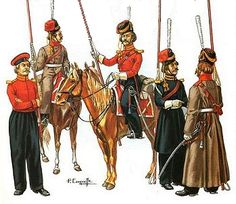 french uniforms crimean war   Cossack Life Guard Regiment during the Napoleonic War
