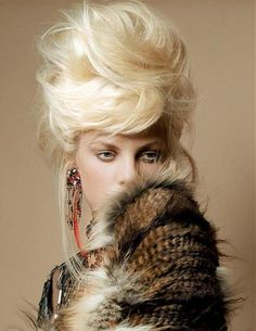here's to the bouffant :: Gregory Kaoua Up Hairstyles, Pretty Hairstyles, Afro, High Fashion Hair, Style Fashion, High Updo, Corte Y Color, Fantasy Hair, Hair Creations