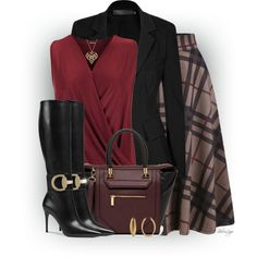 A fashion look from October 2015 featuring WearAll tops, Donna Karan blazers and Gucci boots. Browse and shop related looks.