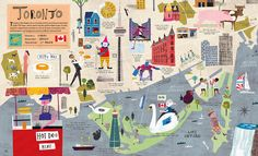 Toronto illustrated map