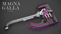 Magna Galla by Kalephrex on DeviantArt Fantasy Sword, Fantasy Armor, Fantasy Weapons, Sci Fi Weapons, Weapon Concept Art, Weapons Guns, Curved Swords, Medieval, Gadgets