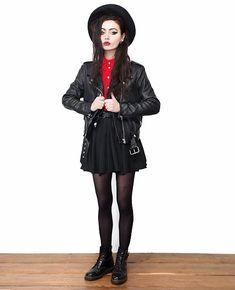 Violet Ell - Acne Studios Leather Jacket, Dr. Martens Boots - 1.15