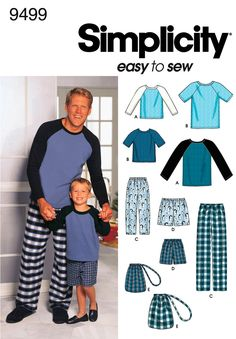 9499Boys and Men Loungewear -   Boys' and Men's Loungewear - Pants or Shorts, Bag and Knit Top