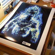 Huge #thankyou for getting my #art of #supersaiyangod #goku inspired by the #anime #manga #supersaiyan #power #super #artist #illustration #digitalart #photoshop #painting #digitalpainting #graphicdesign #designer #design #graphics