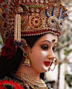 Lord Durga, Durga Ji, Saraswati Goddess, Kali Goddess, Shiva Shakti, Maa Durga Photo, Maa Durga Image, Navratri Wallpaper, Navratri Puja