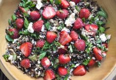 wild rice strawberry salad