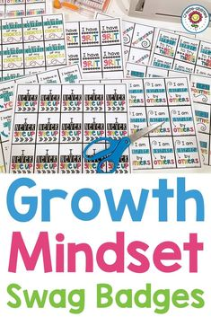 In this activity pack you will get 55 different swag badges to use in your room. Each badge celebrates a growth mindset achievement and can be a powerful way to recognize and reward your students. There are both color and black white pages that come in both an English and Spanish version to meet your classroom needs. #growthmindset #swagbadges Growth Mindset Examples, Growth Mindset For Kids, Growth Mindset Activities, Classroom Incentives, Classroom Management, 5th Grade Classroom, Positive Behavior, Social Emotional Learning, Upper Elementary