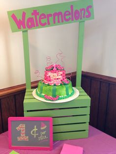 Watermelon themed cake                                                                                                                                                                                 More