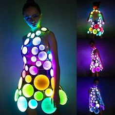 Infinity mirror LED light up party dress skirt costume clothing - brand new (Quarantine Offer) Led Dress, Dress Skirt, Infinity Spiegel, Led Costume, Troll Costume, Star Costume, Costume Dress, Dance Costumes, Light Up Dresses