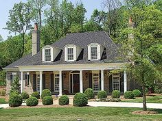Country Plantation Style House Plan - I can tell it is my dream house just from the plans