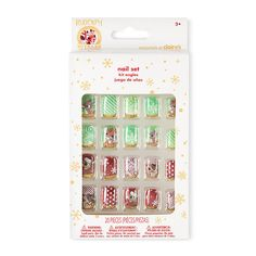 Rudolph the Red-Nosed Reindeer Faux Nails.Add a playful, festive touch to your nails with these Rudolph the Red-Nosed Reindeer faux nails. Red and green designs include Rudolph, Clarice, snowflakes, stripes, swirls and polka dots. | Claire's $6.50