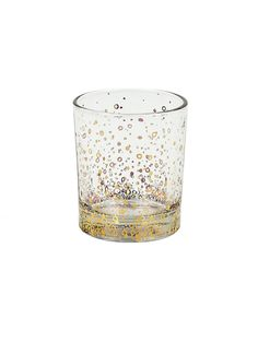 Tinsley Mortimer Bubble Rocks Glass (Set of 4). Gold accented highball glasses.